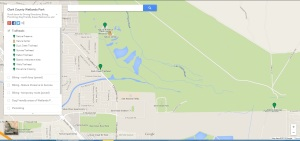Wetlands Park map