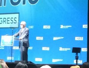 Senator Reid introduces the panel discussion.